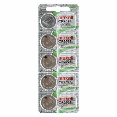 5 X Pilas Boton Maxell Original Bateria Cr2025 De Litio 3V Lithium Battery 2025