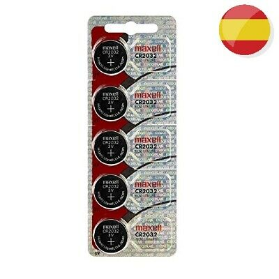 5 X Pilas Boton Maxell Original Bateria Cr2032 De Litio 3V Lithium Battery 2032