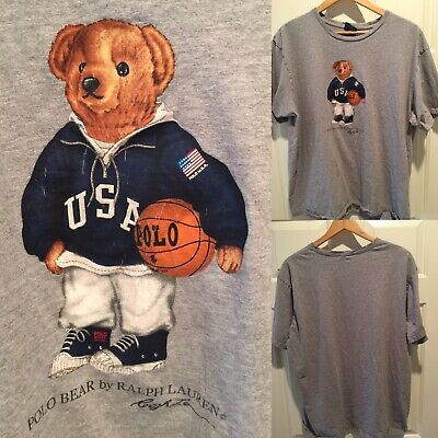 713788af6 VINTAGE POLO BEAR By Ralph Lauren Polo Sport XL White 90s - $75.00 ...
