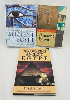 3 Ancient Egypt Books Oxford History Discovering Hardbacks with Dust Jackets