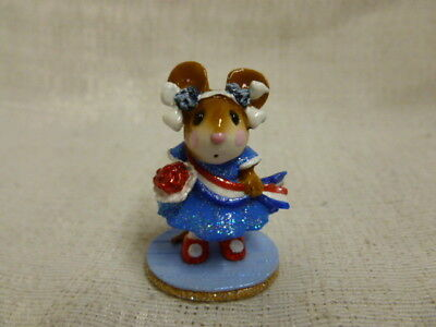 Wee Forest Folk Miss Liberty Fourth of July Special M-307 Retired Blue