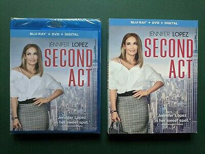 Second Act (Blu-ray + DVD + Digital, Slipcover, 2019) SEALED, NEW, Ohio Seller