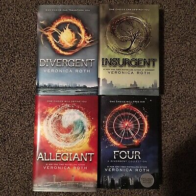 1st Print DIVERGENT series by Veronica Roth - COMPLETE SET