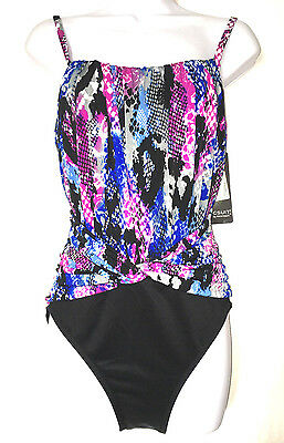 32279f414d MAGICSUIT Miraclesuit JERRY Skin Tight 1Piece Swimsuit 476077 SIZE 14 NEW  w/ TAG