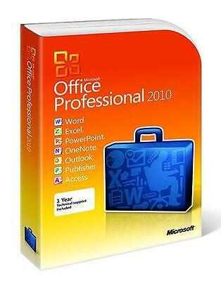 Microsoft Office Professional Pro 2010 GENUINE 269-14964 full 32/64 bit Win 7/10