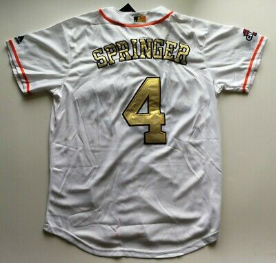 online retailer de634 09d81 MEN'S HOUSTON ASTROS Springer #4 Gold Jersey Size L - $45.00 ...