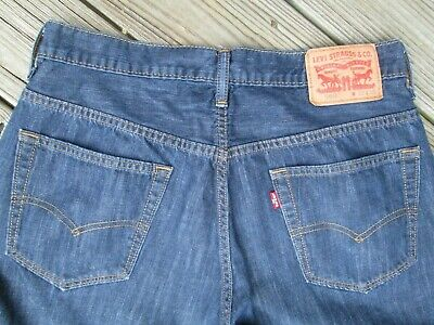 02fdd613 $135 LEVI'S MEN 569 BLUE LOOSE STRAIGHT FIT ICE CAP PANTS DENIM ...