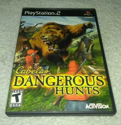 Cabela's Dangerous Hunts (Sony Playstation 2) COMPLETE! Black Label
