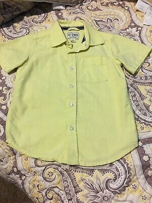 The Childrens Place Boys Short Sleeve Button Up Dress Shirt Size 4T