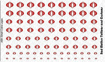 Waterslide Decals Spiderman logos Opaque Red 1//12 or 1//18 Scale Decals