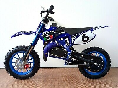 Minimoto Cross SDK MH 49cc pit bike 2 tempi Blue minicross