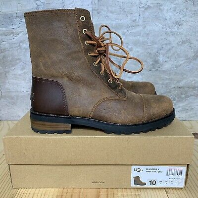 fedd24091 UGG Kilmer II Chipmunk Size 10 Womens Water Resistant Leather Combat Boots