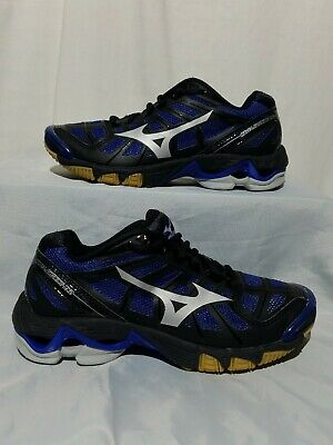 107461a8c1c0 MIZUNO WAVE LIGHTNING RX2 Womens Blue Black Silver Athletic Shoes Size 6