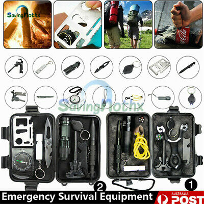 2 Emergency Survival Kit /Tactical Hiking Camping Tool/Outdoor Sports Equipment