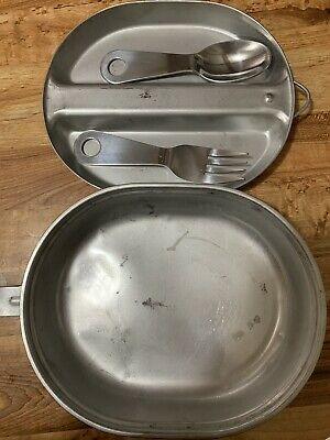 Camping Military Pan Mess Kit With Utensils US ARMY Wyott  Cookware Outdoor Dish