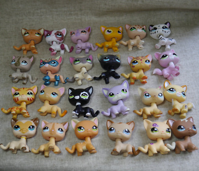 2pcs/Lot Littlest pet Shop random rare LPS short hair Cat Toy Christmas gift