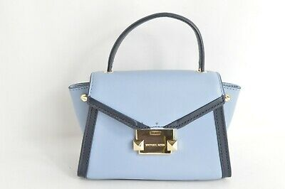 fb4621f06807 Michael Kors Whitney Mini Leather Satchel Pale blue / Admiral - MSRP $228.00