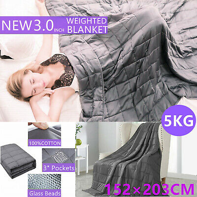 5KG Cotton Bedding Weighted Blanket Heavy Gravity Deep Relax Sleeping Adult