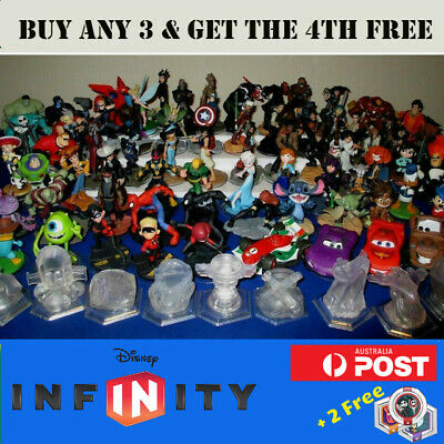 Disney Infinity Figures 1.0 2.0 3.0 - Buy 3 get 4th Free + 2 Free Power Discs