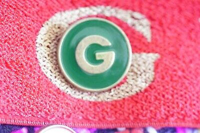 💚100% Authentic  GUCCI  buttons lot of 6   20 mm  0,8 inch   Logo G Green