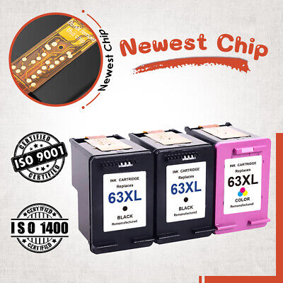 Newest Chip #63XL Ink Cartridge For HP  Officejet 5220 5230 5252 5264 5255 5258