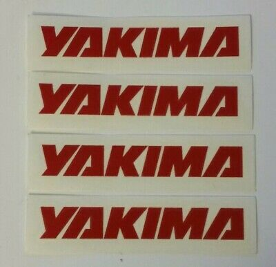 """4 YAKIMA racing decals stickers .75X4"""" die cut FREE SHIPPING offroad jeep utv"""