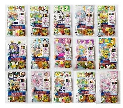 1 Childrens Pre Filled Themed Party Bags Packs Fillers Dinosaur Jungle Farm
