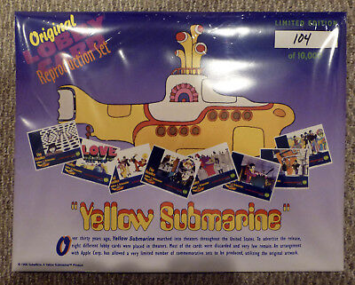 BEATLES 1999 Yellow Submarine LOBBY CARD Set of 8 LTD EDITION Numbered BRAND NEW
