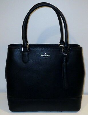 Kate Spade Mccall Street Jenner Black Leather Shoulder Bag W/ Decorative Tassel