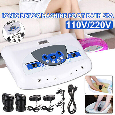 Dual Ion Cell Detox Ionic Foot Bath Spa Cleanse Machine with LCD &   ❀