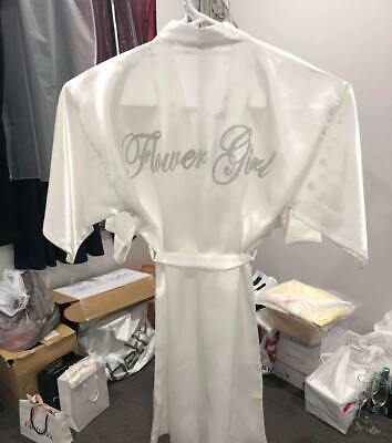 Flower Girl Robes - High Quality (White / Pink)