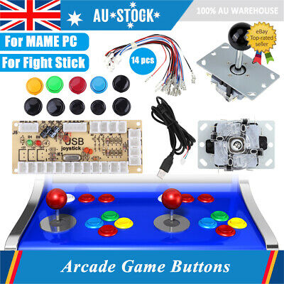 Arcade Game DIY Kits Parts Zero Delay Buttons+Joystick+USB Encoder for MAME PC