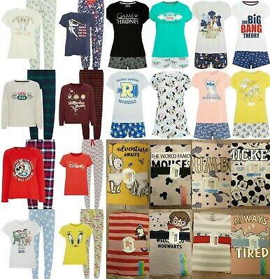 PRIMARK Ladies Girls Pyjamas Pjs T Shirt Tee Top Shorts Pajamas Short Pyjama Set
