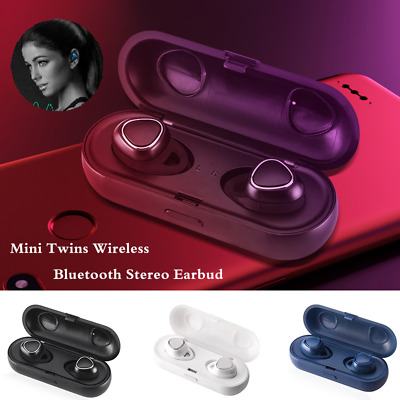 Mini Bluetooth Earbuds Wireless Headphones TWS Sports Gym Best Noise Cancelling