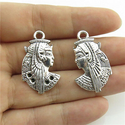 89832 10X Religious Arab Egyptian Figures Pendant Antique Silver Alloy Findings