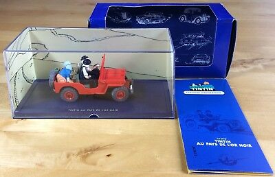 Car Tintin No. 7 the Jeep Red - the Gold Black Atlas 2002 near Mint (NM)
