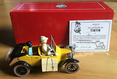 Tintin, Milou & Coconut in the Car Au Congo 1500 Ex. Pixi 4564 near Mint (NM)
