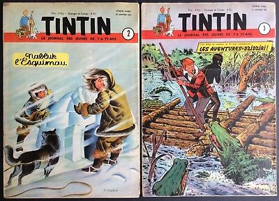 Tintin Edition Belgian Correspondence Binding N° 14 1951 N°2 À 18 Fine Condition