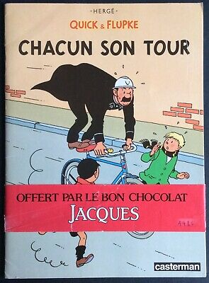 Quick and Flupke Each His/Her Tour Chocolate Jacques Full 1986 Very Good