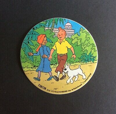 Tintin & Friends of the World with a Indian Sticker Very Good Condition
