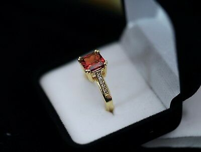 Antique Jewellery Gold Ring Ruby White Sapphires Vintage Dress Jewelry Sz N 7