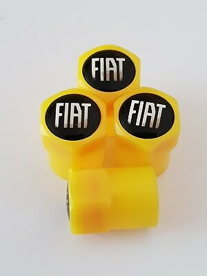 FIAT valve DUST CAPS PLASTIC NON STICK All cars bikes 7 colours coupe ducato 500
