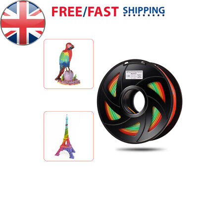 PLA 3D Printer Filament Multicolor 1.75mm 1kg Spool Dimensional +/- 0.02mm M9G9
