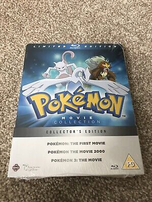 *New* Pokemon Movie Collection Limited Collector's Edition Blu Ray Steelbook