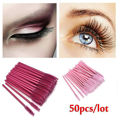 50 Disposable Mascara Wands Eyelash Brushes Applicator Lash Extension Brush Wand