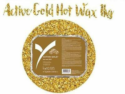 Lycon Hot wax ACTIVE GOLD weight 1 KG.