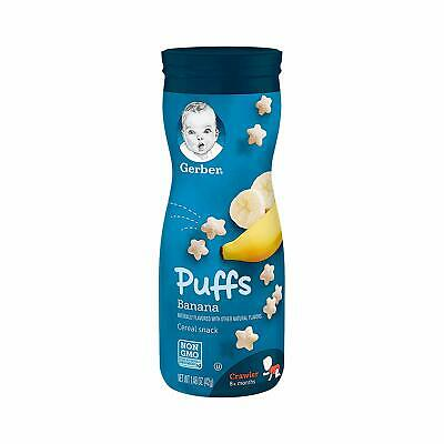 Gerber Graduate Puffs - Banana - Baby Cereal Snack 42g - TWINPACK