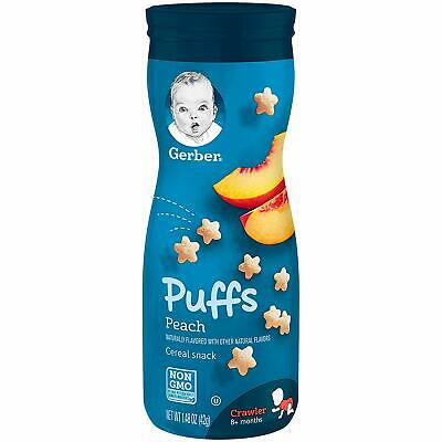 Gerber Graduate Puffs - Peach - Baby Cereal Snack 42g - TWINPACK