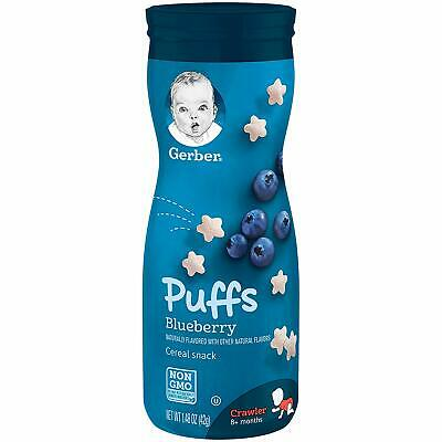 Gerber Graduates Puffs - Blueberry - Baby Cereal Snack 42g - TWINPACK