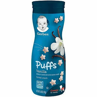 Gerber Graduates Puffs - Vanilla - Baby Cereal Snack 42g - TWINPACK